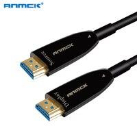 Anmck 4K Optical Fiber 2.0 HDMI Cable 5M 10M 20M 30M 60M HDMI TO HDMI 60Hz 3D Gold Plated Zinc Alloy Fiber Optical For Projector