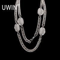 UWIN Steel Miami Cuban Curb Link OEM Chain Silver Men's Hip hop Link Necklace