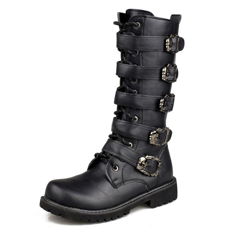 2018 Nous Militaire En Cuir Bottes pour Hommes Bot D'infanterie Tactique Bottes Askeri Bot Armée Bots Armée Chaussures Erkek Ayakkabi hombre