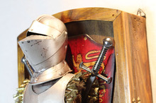 European antique wall ornaments / medieval armor decoration / living room