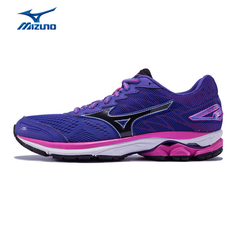 MIZUNO Women's WAVE RIDER 20 Running Shoes Cushioning Breathable Sports Shoes Sneakers J1GD170304 XYP536 цена