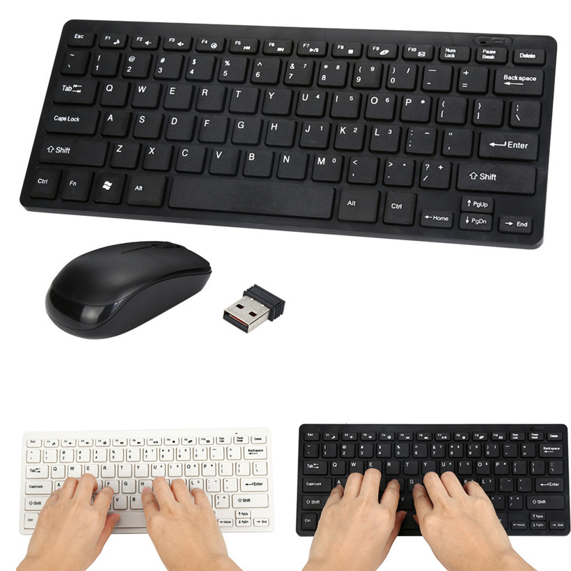 Omeshin Ultra Slim 2.4GHz Wireless Keyboard With Mouse Mice Kit Set For PC Computer New 180201 drop shipping