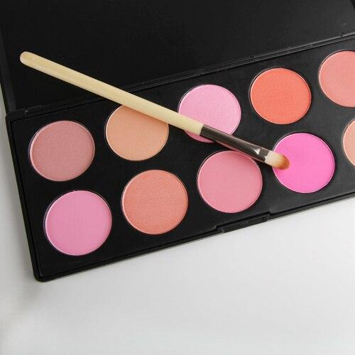 Hot 10 cores Blush Blush em pó maquiagem cosméticos paleta Pink Rose Peach Cora frete grátis