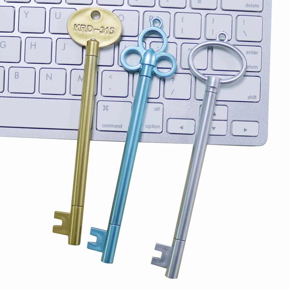 1 Pc 0.38mm kształt klucza długopis żelowy wysokiej jakości kreatywny czarny wkład 6 rodzajów stylów szkolne materiały papiernicze