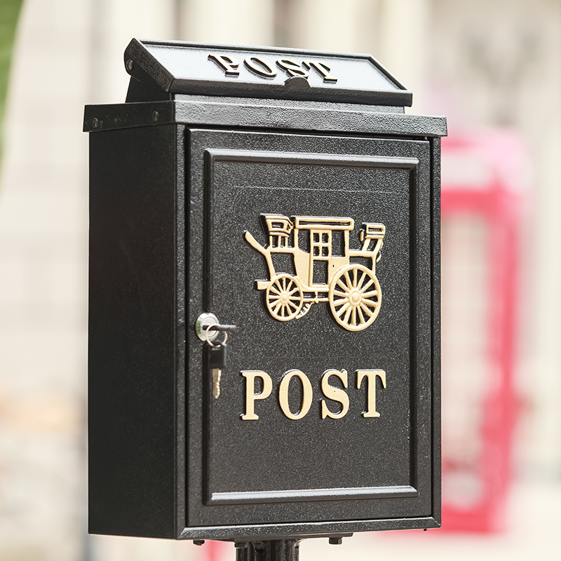 vertical Mailbox Postbox Mail Box Aluminium alloy upright Metal Post Letters Box Rustic Country Aluminium garden outdoor supply