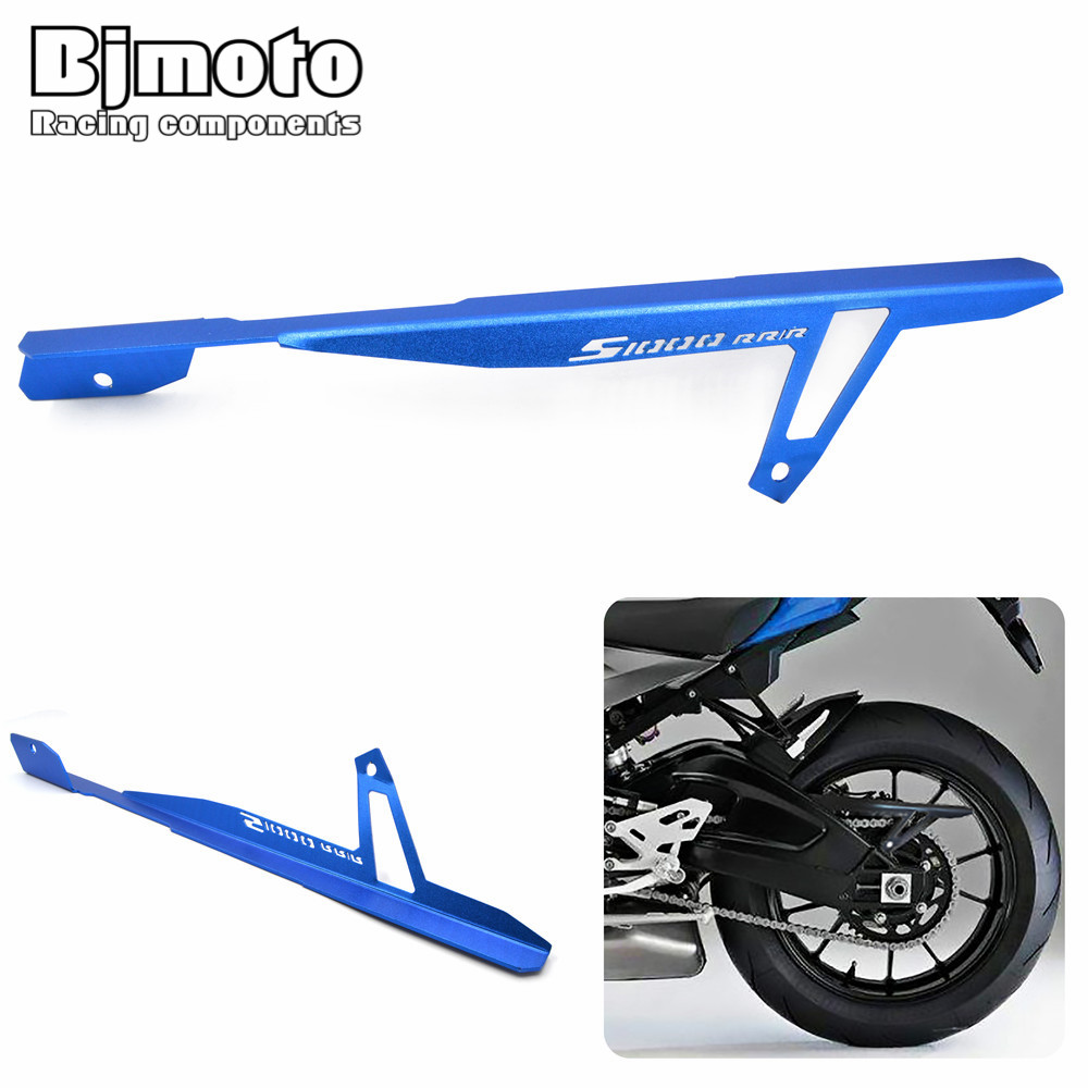 BJMOTO CNC Aluminum Motorcycle Rear Chain Guard Cover Protector For  BMW HP4 2012-2016 S1000RR 2009-2014 S1000R 2014-2016 bjmoto cnc aluminum motorbike accessaries motorcycle engine guard cover pad for kawasaki z1000 r 2010 2011 2012