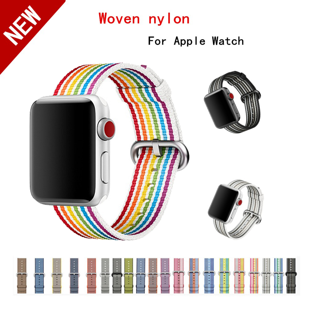 sport Woven Nylon strap band for apple watch band 42 mm 38 mm bracelet & fabric nylon wrist watchband watch Accessories belt цена