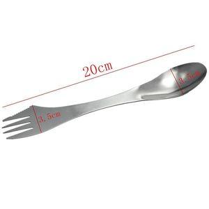 Image 4 - Yaratıcı tasarım 3 in 1 mutfak sofra paslanmaz çelik Sporks çatal kaşık erişte salata meyve sofra