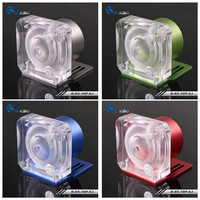 Bykski D5 Pump Cover For D5 water pump Armor Computer Water cooling Aluminum Shell + Acrylic Cover B D5 TOP KJ