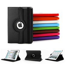 For iPad Mini 1/2/3/4 Case 360 Degree Rotating PU Leather Stand Cover for iPad Mini 7.9 inch Auto Sleep/Wake up Funda Capa Para цена 2017