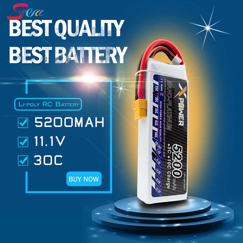 Lipo Battery 11.1V 3S 30C Max 35C XT60 T EC5 5200mah Lithium Xpower Batteries For RC Drone Quadcopter Truck Car Battery VS VOK lacywear vok 3 snn