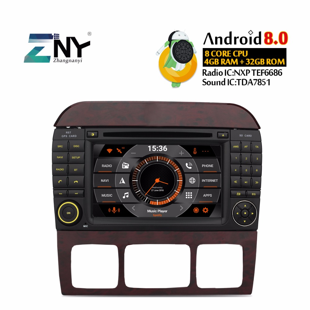Android 8 1 Car Radio GPS Multimedia Head Unit for Mercedes Benz S