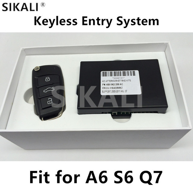 Sistema de Entrada sem chave com Controle Remoto Chave para Audi A6 S6 A6L Q7 2005-2010 Suporte 315/433/868 MHz com Chip de 8E