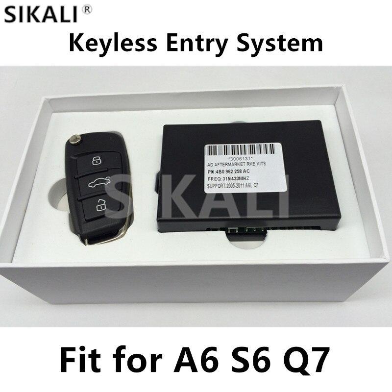 キーレスエントリーシステムでリモートキー用アウディa6 a6l s6 q7 2005 2010サポート315/433/868 mhzで8eチップ  グループ上の 自動車 &バイク からの 車のキー の中 1