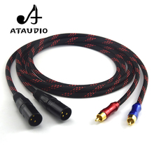 ATAUDIO HIFI Audio cable 2 XLR Male to 2 RCA Male Quality Cables 2XLR to 2RCA