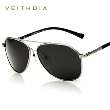 VEITHDIA Brand Fashion Sunglasses Polarized Men 6 Color Coating Mirror Sun Glasses oculos Male Eyewear Accessories gafas 2366 цена в Москве и Питере