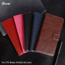 For ZTE Blade A530 Case 5.45 inch Leather Phone Cover Photo Frame Flip Wallet Cases For Co