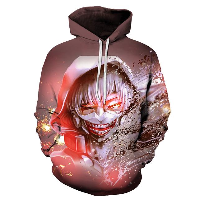 Tokyo Ghoul 3D Top Quality Hoodie