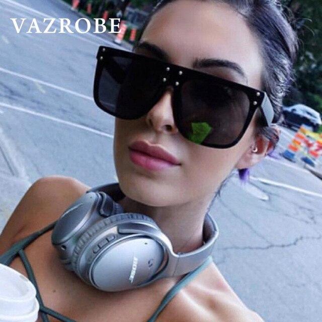 bde74fe1dc Vazrobe Oversized Sunglasses Women Big kim kardashian Sun Glasses for Female  Fashion Designer Black star 80s 2018 punk leopard