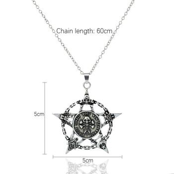 Luminous Star Skull Pendant Necklace8