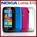 610 Разблокирована Оригинальный Nokia Lumia 610 WI-FI Bluetooth 8 ГБ ROM 5MP 3 Г Windows Mobile Восстановленное Мобильного Телефона Бесплатная Доставка
