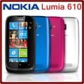 610 abierto original nokia lumia 610 wifi bluetooth 8 gb rom 5mp 3g windows mobile reformado teléfono móvil del envío gratis