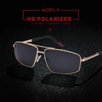 AOFLY BRAND DESIGN Classic Men's Sunglasses Men Driving Polarized Sunglasses Male Metal Frame Glasses Eyewear Gafas UV400 AF8182