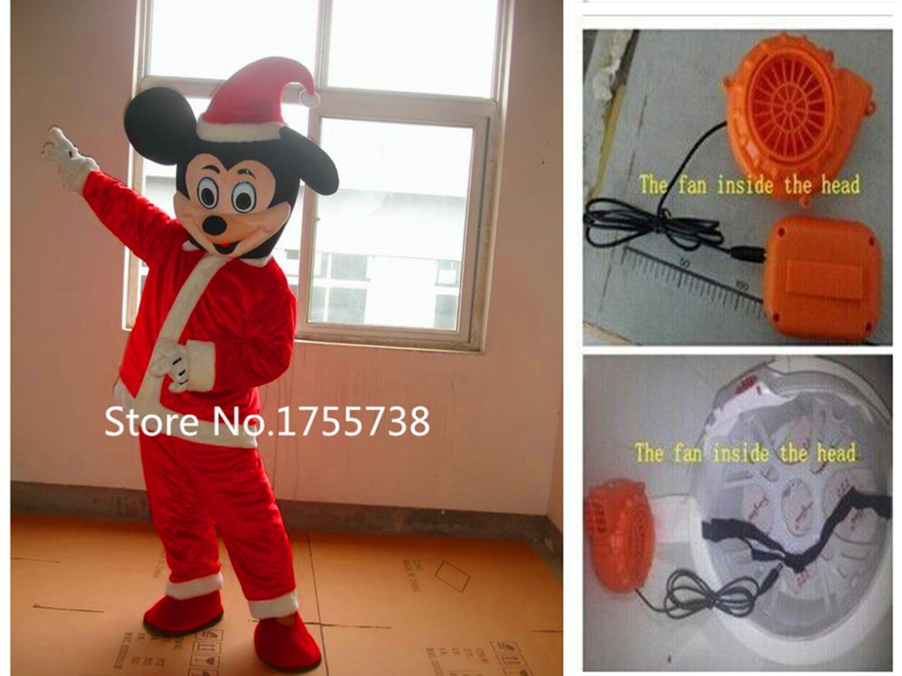 Red Christmas Mic&key Mouse mascot costume
