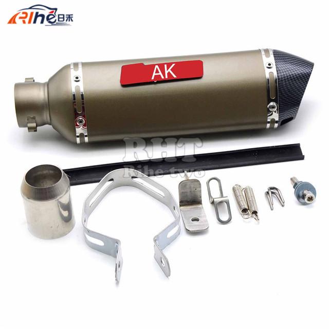 Universal tubo de Escape Da Motocicleta Silenciador 38-52 MM da tubulação Para CBR125 CBR250 CBR CBR600 CBR1000 CB400 CB600 CB400 CB600 ER6N ER6R