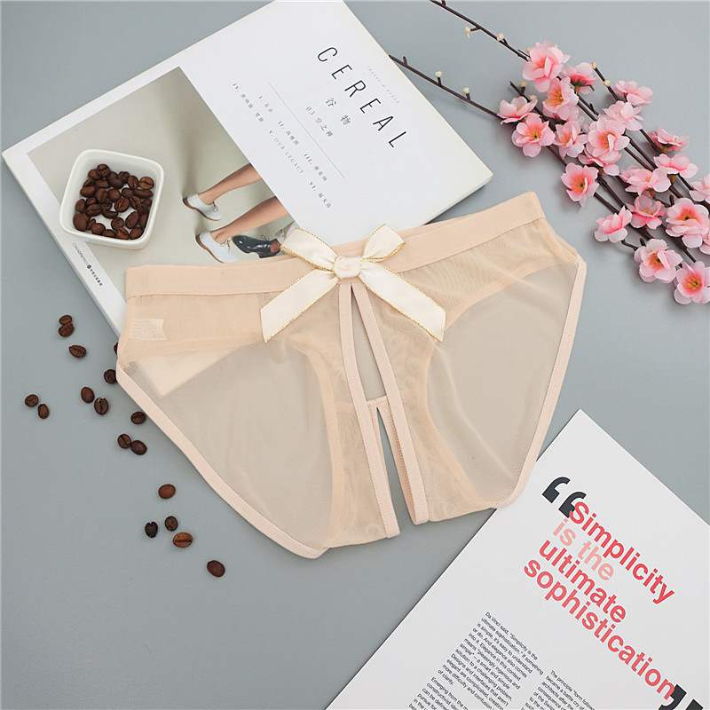 See Through Sexy Lingerie Women's Seamless   Panties   Briefs Temptation Female Sexy Underwear Cute Bow Transparent   Panties