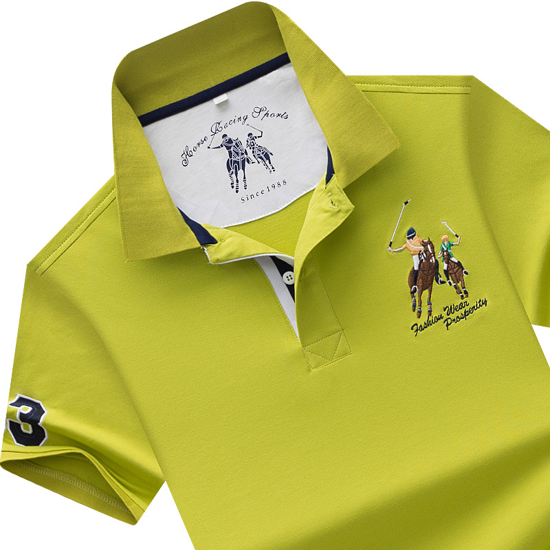 High Quality Tops&Tees Men's Polo shirts Business men brands Polo Shirts 3D embroidery mens polo shirt Plus size M-4XL