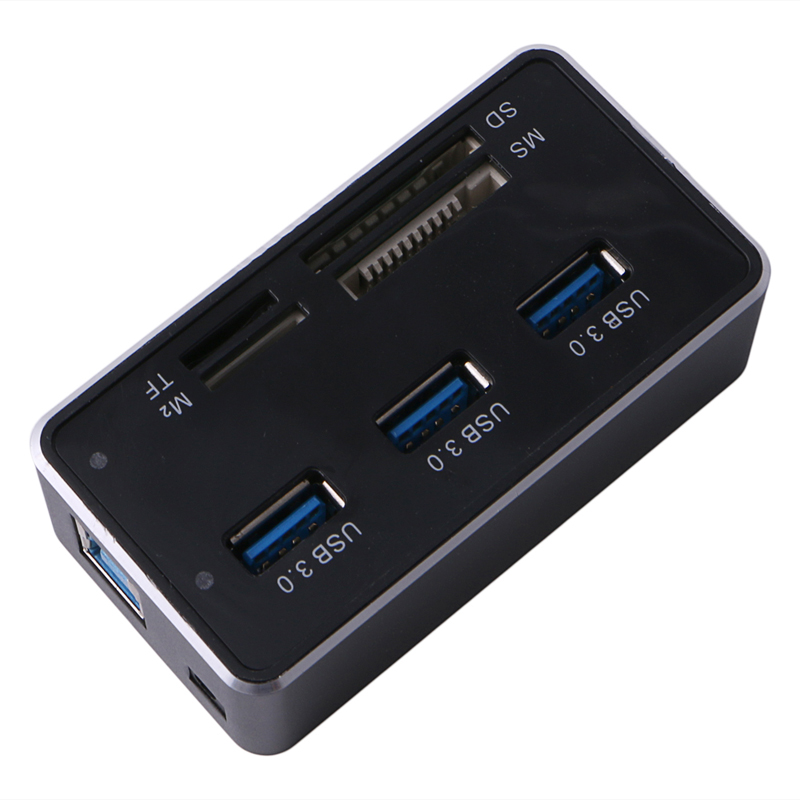 Computer Accessories Multi-function All-in-1 High Speed Card Reader Hub USB 3.0 USB 7 Slots USB Combo