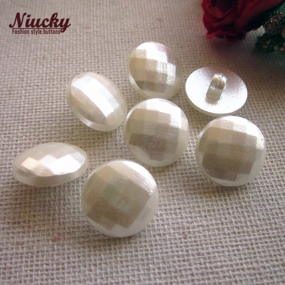 Niucky 1/2 12.5mm shank Round Square section ABS pearl buttons for sewing women baby clothing materials supplies P0301-048