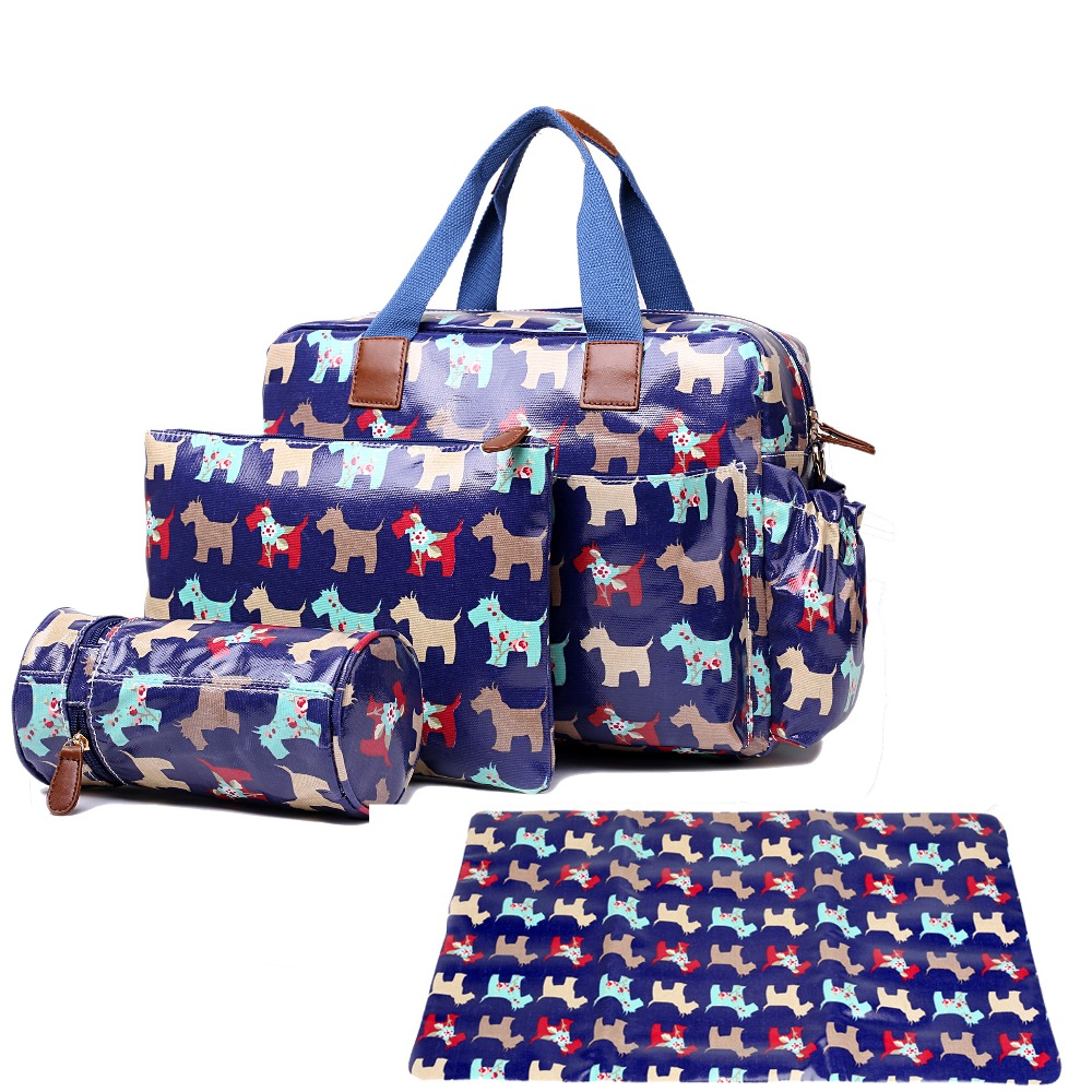Women Dog print  Oilcloth Maternity Changing Bag Satchel Large Handbag Tote composite bag crossbady bags