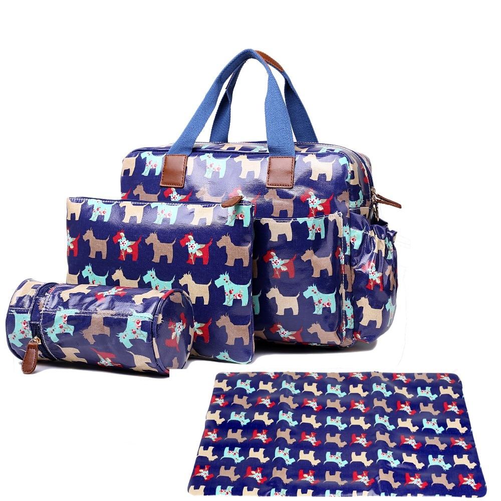 Women Dog print Oilcloth Maternity Changing Bag Satchel Large Handbag Tote composite bag crossbady bags