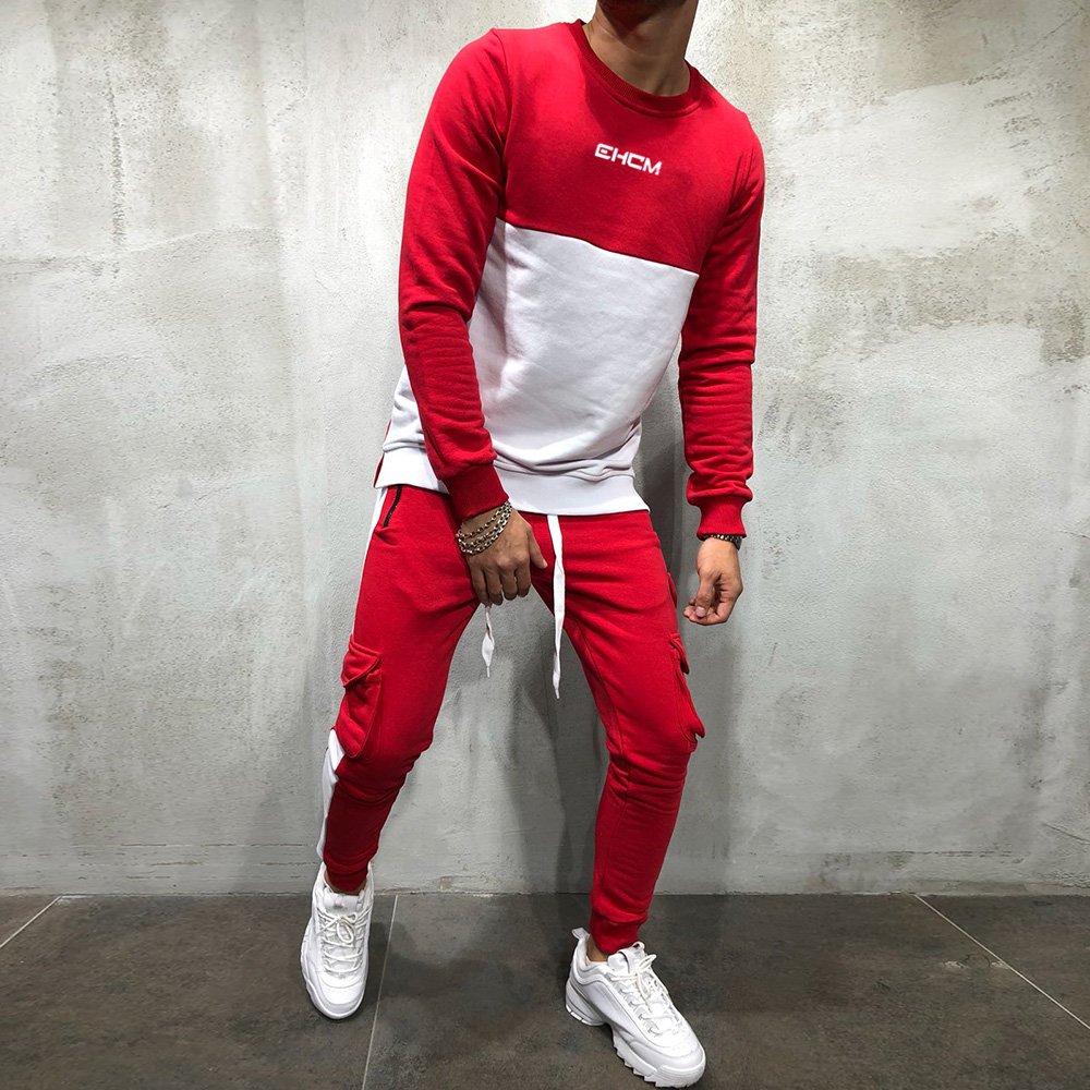 2018 new Tracksuit mens sports suits gym running 2 piece set men track suit Fitness jogging suit men Bodybuilding sportswear 3