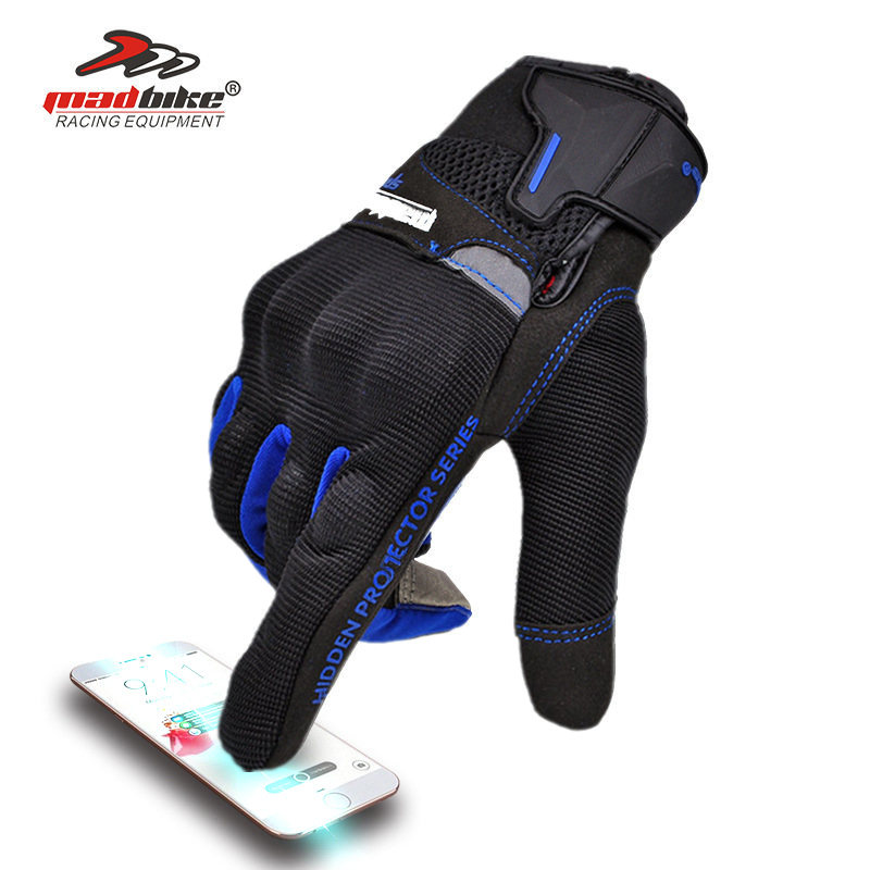 MAD BIKE BRAND Motor Hand Protection Smart Phone Touch Gloves Motorcycle Glove M L XL XXL Spring Summer Autumn For Men Women image