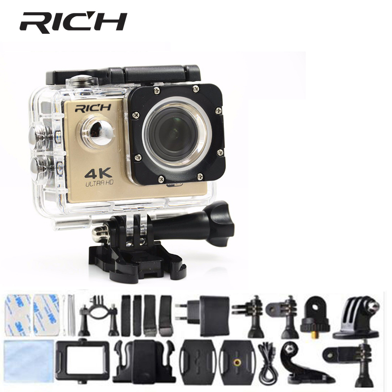 2018 Action camera F60 wifi 1080 P cameras 2.0 LCD 170D HD Sport DV outdoor Helmet Camcoder pro go waterproof sports cam
