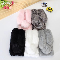 Rabbit Fur Mobile Phone Case For Samsung Galaxy A320 A520 A720 A3 A5 A7 2017 J3