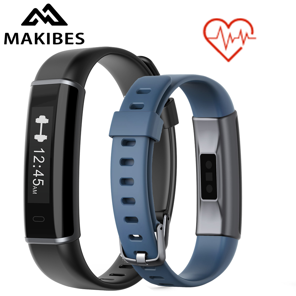 Makibes ID130 HR Bluetooth Smart Band Activity Tracker Fitness Bracelet Heart Rate Monitor Multi-Sport Wristband For Android ios original makibes hr1 smart bracelet fitness activity tracker continuous heart rate monitor 0 96 oled bluetooth wristband