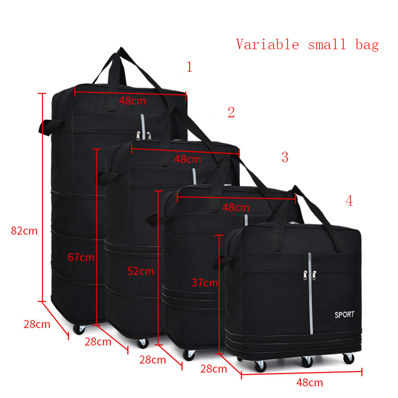 Image 5 - Large capacity Portable Travel Bag Rolling Luggage Can Expand 