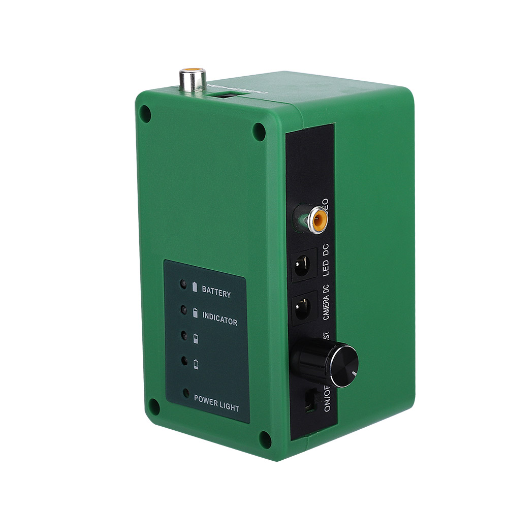 Underwater fishing camera accessories green battery box