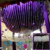 Новый Свадебный декор 30 м DIY гирлянды Алмаз Акриловые Кристалл Бусины Strand Shimmer предложения Свадебная вечеринка украшения жемчужные цепочки