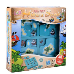 Image 5 - Pirates Hide&Seek IQ Board Games 48 Challenge With Solution Book Smart IQ Toys For Children Party Games Family Interactive Toys