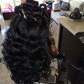 8А Бразильские Волосы Девственницы Объемной Волны 4 Связки Королева Волос Brazillian Объемная Волна Человеческого Переплетения Волос Пучки Бразильские Волосы Девственницы