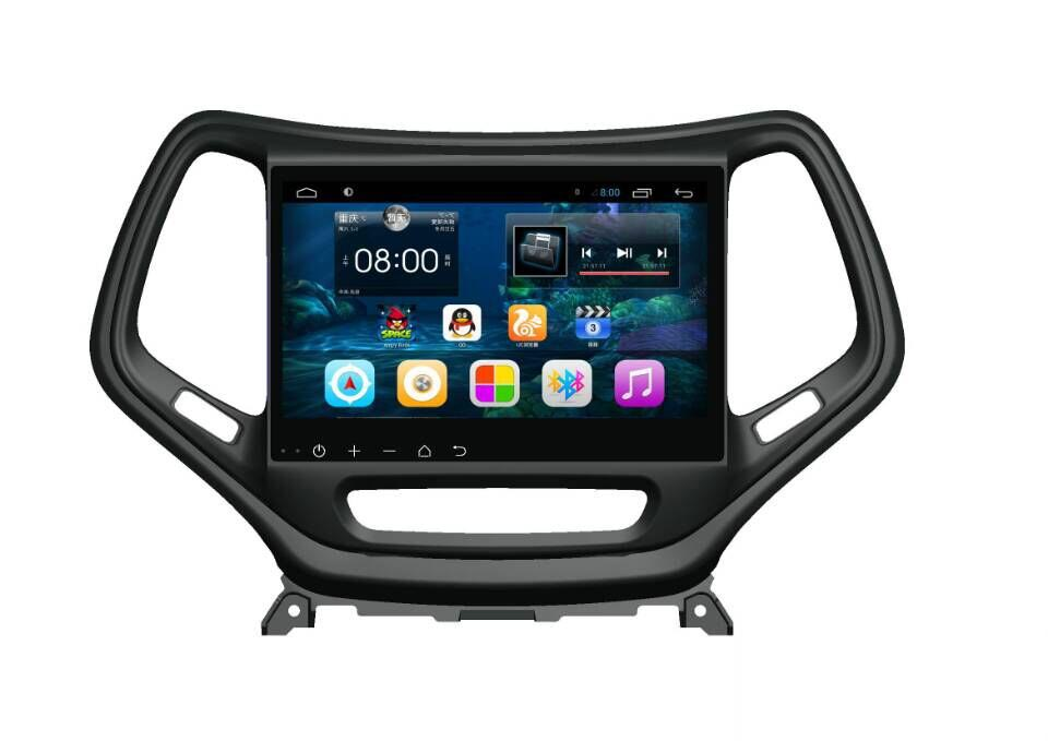 10.2 inch Android 6.0 Car Dvd Gps Navi Audio for 2016 <font><b>Jeep</b></font> Cherokee 1024*600 OBD 1GB Wifi 3G support Original Steering wheel