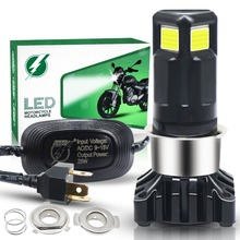 Motorcycle Headlight H4 LED Motorcycle Light Bulb 25W COB Chip LED Accessories for Motorcycle Front Headlamp