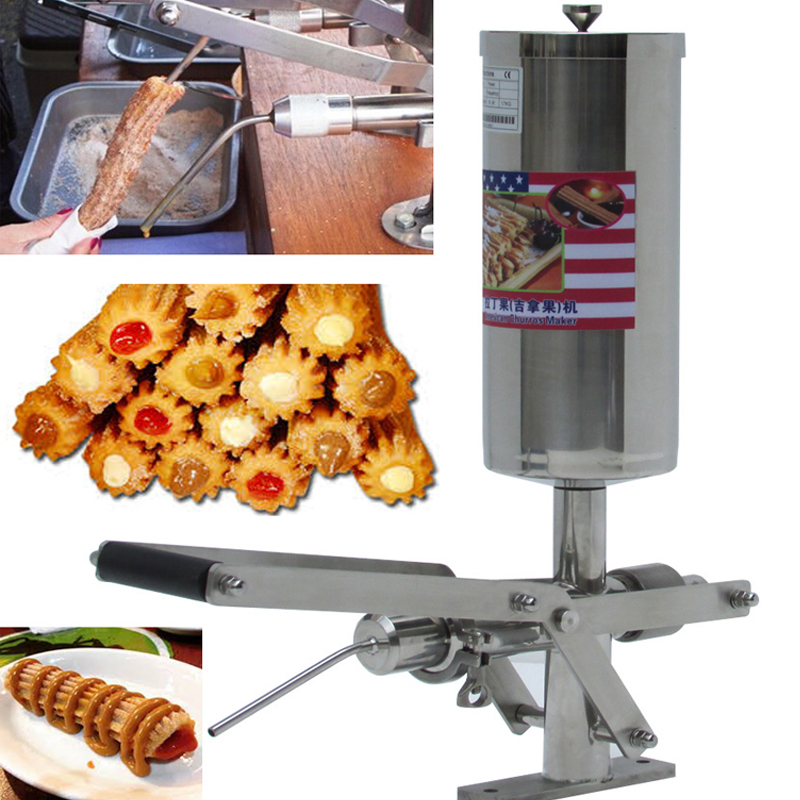 5L Commercial  churros filling machine chocolate, jam, puff stuffer stainless steel material delicious dessert filling machine fast shipping food machine 6 layers chocolate fountains commercial chocolate waterfall machine with full stainless steel