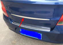 1PC for Chevrolet sail 2010-2014 trunk trim sticker stainless steel
