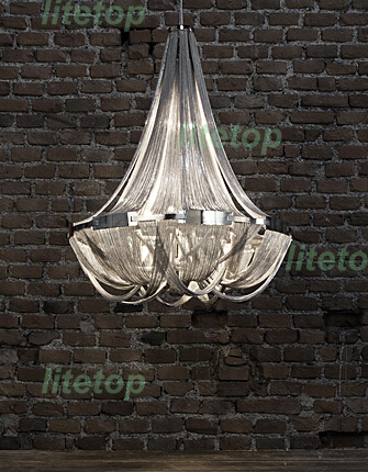 terzani soscik suspension font b light b font aluminum chain chandeliers modern novelty font b light